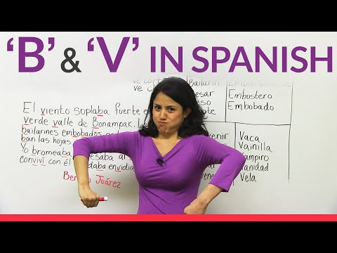 The letters B & V in Spanish