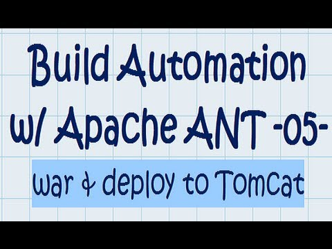 ANT Tutorial 05 - war, deploy, and start/stop tomcat from ANT Script