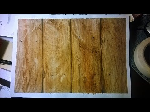 Creating random wood board texture with watercolor
