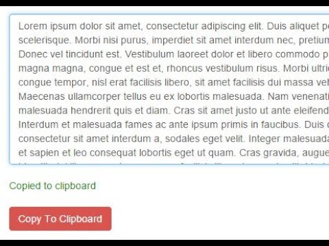 How to enable clipboard in HTML & JavaScript (Copy text by button click)