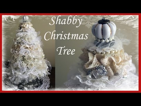 Shabby Chic Christmas Tree Tutorial #1
