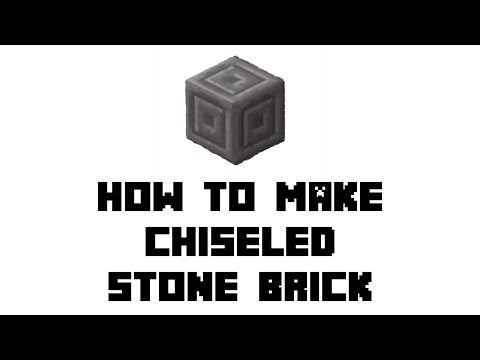 Minecraft Survival: How to Make Chiseled Stone Bricks