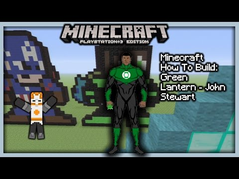 Minecraft How To Build: Green Lantern - John Stewart (Pixel Art)