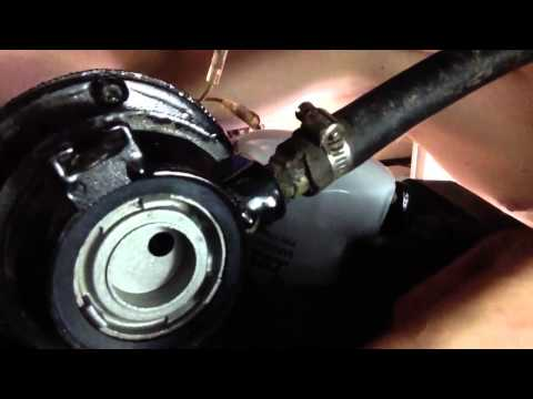 Factory fuel filter replacement on Mercruiser 3.0 1999