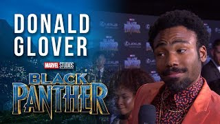 Donald Glover On The Marvel Studios Black Panther World Premiere Red Carpet