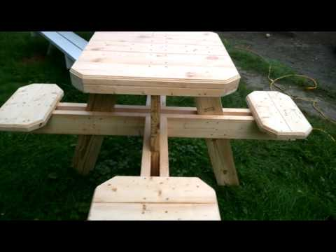 Bar stool picnic table