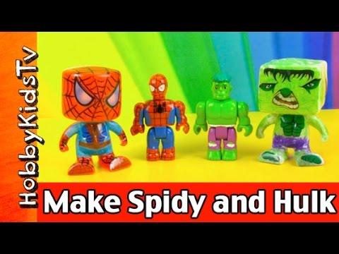 Make Vinyl Hulk with Rose Art Color Blanks! HobbyKidsTV