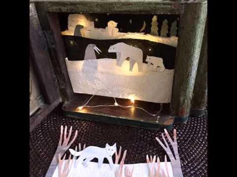 Arctic wildlife paper diorama