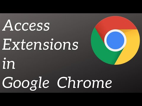 How to access extension in Google Chrome latest Version 59