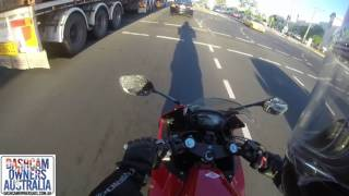 Motorcycle Rear Ended in Traffic - Brisbane QLD
