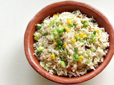 Corn Fried Rice Recipe - How To Make Corn Fried Rice - Kids Lunch Box Recipes