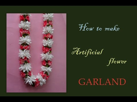 Do it yourself fabric garland lei
