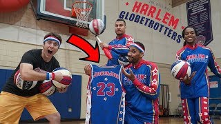 TRYING OUT FOR THE HARLEM GLOBETROTTERS!
