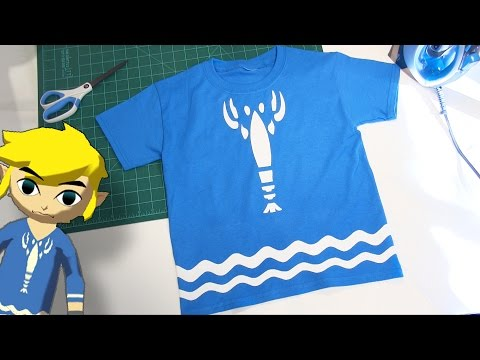 Make your own Toon Link Lobster Shirt - Wind Waker Cosplay Costume