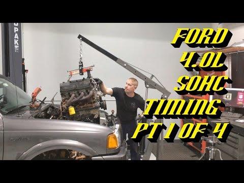 Ford Explorer Ranger 4.0L SOHC Startup Rattle Fix: Timing Walkthrough Pt 1 of 4 Pulling the Engine