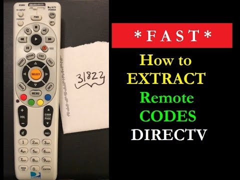 How to Get DIRECTV Codes From a Remote - 990 Code Extraction