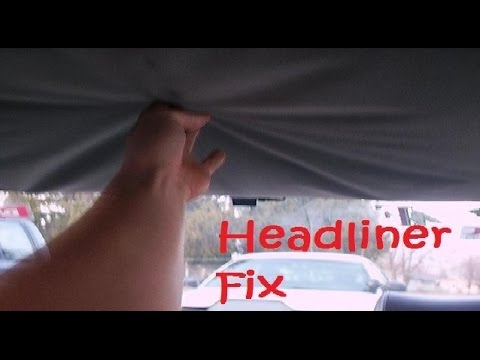 How to fix car's Headliner with Carpet tape -- tips made EASY -- CHEAP NO GLUE or Spray