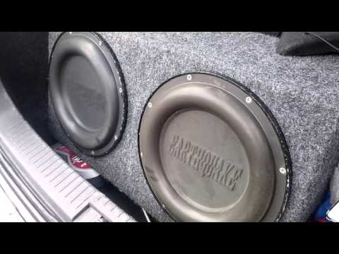 Earthquake 12 sub/passive radiator Bass I love you excursion