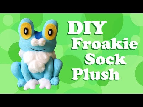 ❤ DIY Froakie Sock Plush! How To Make A Cute Pokemon Plushie! ❤