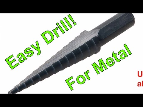 How to drill a hole in metal steel iron - DIY