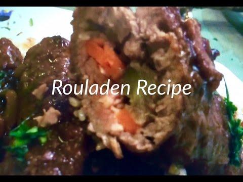 Rouladen Recipe Red Wine Sauce Gravy, Beef, Bacon, Tarragon Mustard