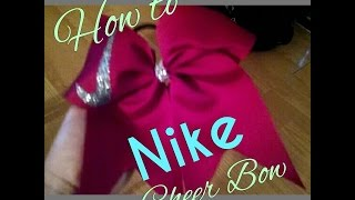 How To Make a Nike Cheer Bow