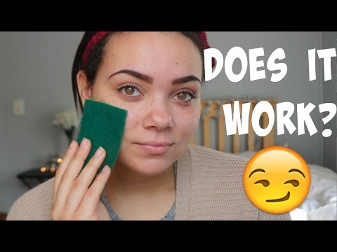 APPLYING FOUNDATION WITH A DISH SPONGE! TESTED!