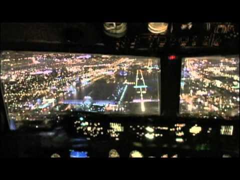 London City Night Arrival - Fokker 50