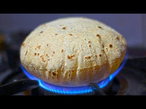 ★ नर्म फूली फूली रोटी   Soft Phulka / Roti / Chapati in Hindi @ Aapki Rasoi