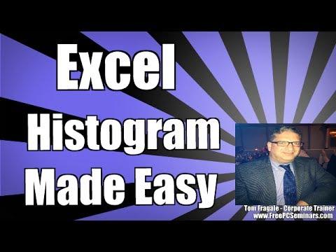Creating a histogram in Excel 2010 - Excel histogram Excel 2013, Excel 2016 tutorial