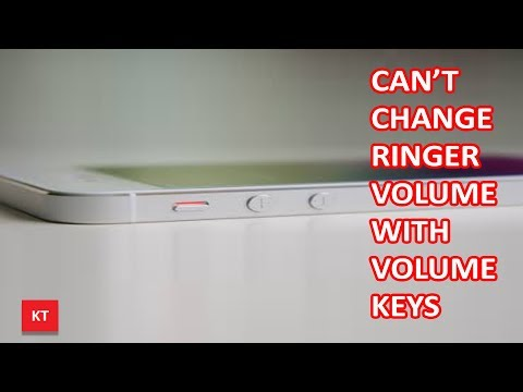 Can't change iPhone ringer volume with volume keys in iOS 11