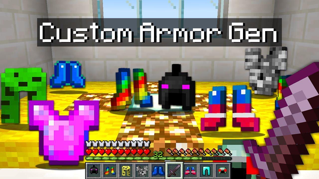 Minecraft Bedwars but I added custom armor generators...