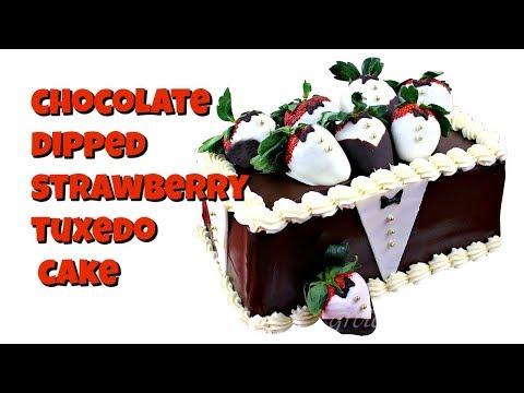 Tuxedo Strawberry Cake || Gretchen's Vegan Bakery