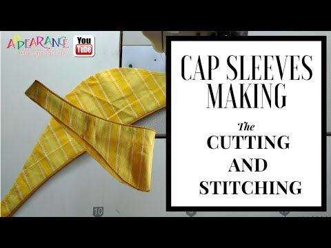 Cap Sleeves Making Cutting and Stitching ( DIY) easy method