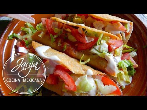 Tacos Dorados de Carne Molida y Papa