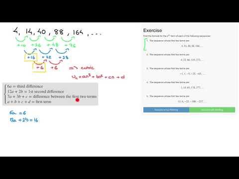 Cubic Sequences Exercise question 1