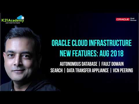 Oracle Cloud Infrastructure (OCI) | New Features August 2018