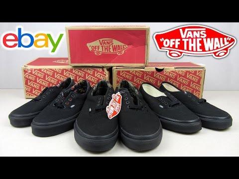Vans High Tops Black Ebay   Hightops Black E 367d66f91