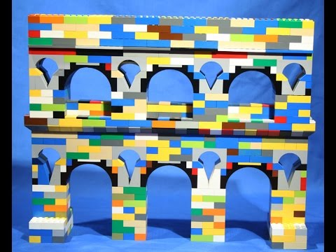 Modeling the Art and Engineering of Roman Aqueducts with Lego Bricks