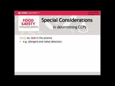 Determining Critical Control Points: HACCP Principle 2