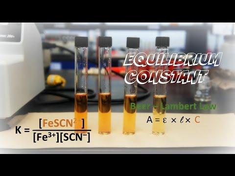 Lab Experiment #13: The Equilibrium Constant.