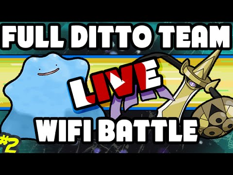 Pokemon Omega Ruby and Alpha Sapphire - Return of the Full Ditto Team! - Live Wifi Battle