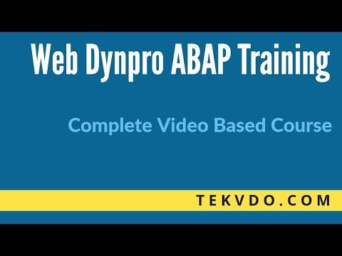 Web Dynpro ABAP Online Training - Part 1-b