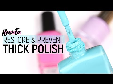 How To Restore & Prevent Sticky or Thick Polish!