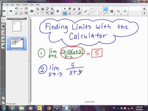 Calculus Finding Limits with Calculator Table