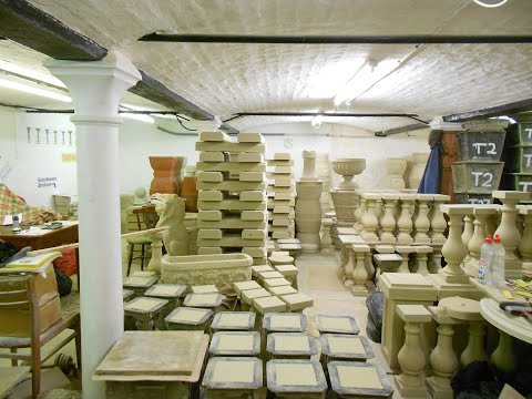 The Somerset One Man Cast Stone Factory.