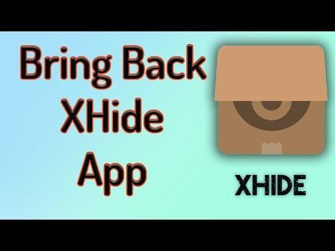 Bring XHide Back in Apps if You Lost it (Full Method) | Urdu/Hindi | A U R  | 2017
