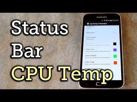 Display the Current CPU Temperature in Your Status Bar - Android [How-To]