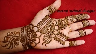 easy simple floral mehndi henna designs for hands |Matroj Mehndi Designs