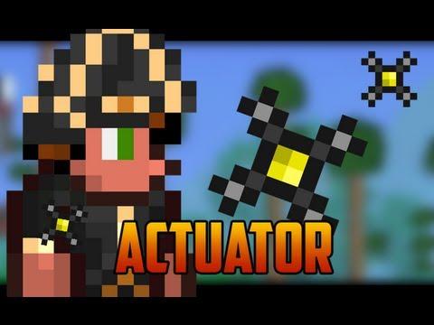 Terraria 1.2 - Actuator, for traps or hiding your base